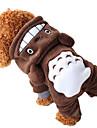 Dog Costume / Hoodie Brown Winter Animal / Cartoon