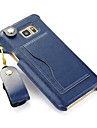 For Samsung Galaxy Note Card Holder / with Stand Case Back Cover Case Solid Color PU Leather Samsung Note 5 / Note 4 / Note 3 / Note 2