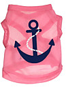Gatos / Perros Camiseta Azul / Rosado / Rosa Ropa para Perro Verano Flores / Botanica Moda DroolingDog