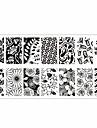 theme des fleurs manucure estampe image modele plaque rectangulaire estampage plaques ne jolie