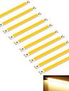 youoklight® 10pcs 10w 950lm початка 1-LED теплый белый 3000K прямоугольник полосы (DC 12 ~ 14V)