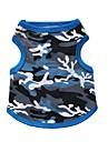Коты / Собаки Футболка Синий / Черный Одежда для собак Лето камуфляж Мода