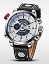 WEIDE Hommes Montre Bracelet Montre numerique Quartz Numerique Quartz JaponaisLCD Calendrier Chronographe Etanche Double Fuseaux Horaires