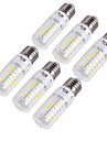 15W E14 / E26/E27 Ampoules Mais LED T 56 SMD 5730 1350 lm Blanc Chaud / Blanc Froid Decorative AC 100-240 / AC 110-130 V 6 pieces