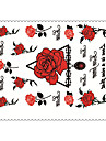 5PCS Fashion Roses Body Art Waterproof Temporary Tattoos Sexy Tattoo Stickers (Size: 3.74\'\' by 5.71\'\')