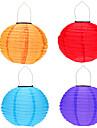 """4pcs 12 """"solaire alimente conduit d\'eclairage de la lampe suspendue lanterne lumiere chinois pour le jardin cour"""