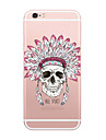 Pour Coque iPhone 6 Coques iPhone 6 Plus Ultrafine Transparente Motif Coque Coque Arriere Coque Dessin Anime Flexible PUT pouriPhone 6s