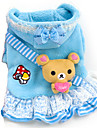 Dog Sweater / Hoodie / Clothes/Clothing Blue / Pink Winter Hearts