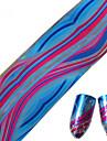 1pcs 100 * 4 centimetros de glitter nail art transferencia adesivos diy geometrico colorido linha da onda rodada imagem Prego projeto da