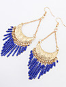 Earring Drop Earrings Jewelry Women Tassels Party / Daily / Casual 1 pair Black / White / Blue / Khaki