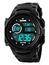SKMEI Мужской Спортивные часы электронные часы LCD Календарь Секундомер Защита от влаги тревога Светящийся Хронометр Цифровой Pезина