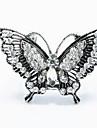 античный серебр форма бабочки брошь шарф пряжки ювелирные аксессуары шарф кольцо для леди