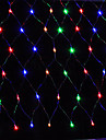 그물 빛 1.5x1.5m 순 조명 문자열 웨딩 파티 크리스마스 장식 크리스마스가 유럽 연합 (EU)이 AC220V 또는 AC110V를 연결 빛 96led 주도
