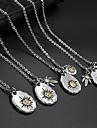 The Camellia Hemp Leaf Pendant Titanium Steel Necklaces