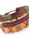Браслеты Wrap Браслеты / Кожаные браслеты Кожа Повседневные Бижутерия Подарок Верблюжий,1шт