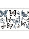 Fashion Temporary Tattoos Butterfly Sexy Body Art Waterproof Tattoo Stickers 5PCS (Size: 2.36\'\' by 4.13\'\')