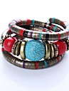 Brown/Red Layered Bangle Bracelet Christmas Gifts