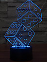 Anteresting 3D Illusion Three-Dimensional Sieve Night Light LED Table Lamp