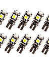 10 X Canbus Error Free White T10 5-SMD 5050 Interior LED Light bulbs W5W 194 168