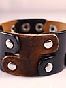 Муж. Wrap Браслеты Кожаные браслеты Кожа Мода Богемия Стиль обожаемый Геометрической формы Черный Бижутерия 1шт
