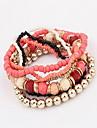 Bohemia Style Acrylic Beads Strand Bracelet (1 Set)