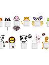 Животные Наклейки Простые наклейки Декоративные наклейки на стены / Наклейки для выключателя света,PVC материал Съемная Украшение дома