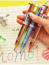 6-Color Ballpoint Pen Color Pen School Supplies