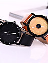 Couple\'s Watch Fashion Star Shimmering Powder Case Colorful Leather Band Watch for Women Men Wrist Watch