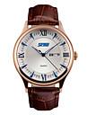 Skmei® Men\'s Fashion Round Dial Leather Strap Calendar Quartz Wrist Watch 30m Waterproof Assorted Colors