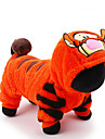 Chat Chien Costume Combinaison-pantalon Vetements pour Chien Mignon Cosplay Vacances Dessin Anime Orange
