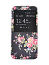 sort blomst mønster pu læder telefon Taske til Samsung Galaxy s4 / S5 / S6 / s4 mini / s5 mini