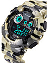 Hombre Reloj Deportivo Cuarzo Japones LCD / Calendario / Resistente al Agua / alarma / Luminoso / Cronometro Caucho Banda camuflaje / Cool
