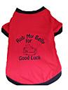 Perros Camiseta Rojo Ropa para Perro Verano Letra y Numero