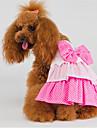 Кошка Собака Платья Одежда для собак День рождения Розовый