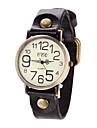 Damen Modeuhr Quartz Armbanduhren fuer den Alltag Leder Band Vintage / Eiffelturm Schwarz / Blau / Rot / Braun Marke-