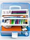 almacenamiento caja de la pintura versatil pintura del arte del clavo caja de tres cajas de plastico transparente caja de herramientas 667
