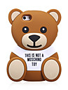 material de silicona diseno lindo del oso para el iphone 5 / 5s