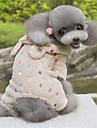 Dog Hoodie / Clothes/Jumpsuit Brown / Rose Dog Clothes Winter / Spring/Fall Polka Dots Cute