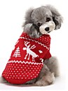 Cat / Dog Sweater Red / Blue Dog Clothes Winter Reindeer Keep Warm / Christmas
