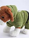 Собаки Толстовки Красный / Зеленый / Синий Одежда для собак Зима / Весна/осень Животный принт На каждый день