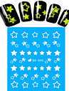 1pcs Nail Art Water Transfer Noctilucent Sticker Star Decoration Nail Beauty DG-005