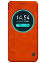 용 에이수스 케이스 윈도우 / 플립 케이스 풀 바디 케이스 단색 하드 천연 가죽 Asus Asus ZenFone Max ZC550KL / Asus ZenFone Selfie ZD551KL