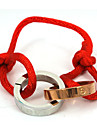 Fashion Double Rings 316L Stainless Steel Adjustable Weave Bracelets
