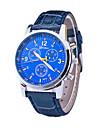 Three Swiss Men\'s Casual Fashion Leather Belt Quartz Watch