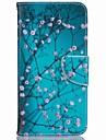 Corpo Completo carteira / Entrada de Cartao / com suporte Flor Couro Ecologico Duro Case Capa Para Apple iPhone 7 / iPhone 7 Plus