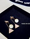Серьги-слезки Жемчуг Имитация Алмазный Сплав Мода Геометрической формы Розовый Бижутерия Повседневные 1 пара