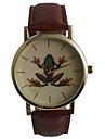 Unisex Fashion Watch Water Resistant / Water Proof Quartz PU Band Casual Brown
