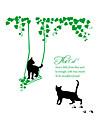 Животные / ботанический / Слова и фразы Наклейки Простые наклейки Декоративные наклейки на стены,PVC материалВлажная чистка / Съемная /