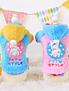 Dog Hoodie Blue / Pink Winter / Spring/Fall Cartoon Fashion, Dog Clothes / Dog Clothing