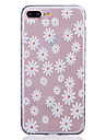 Pour Coque iPhone 7 Coques iPhone 7 Plus Coque iPhone 6 Transparente Motif Coque Coque Arriere Coque Fleur Flexible PUT pour AppleiPhone